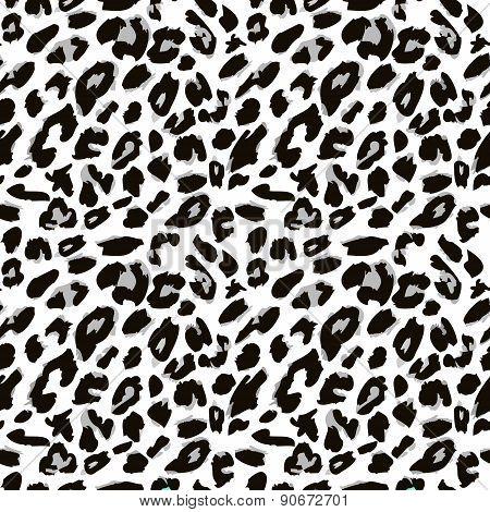 Leopard skin print pattern. Seamless animal fur pattern