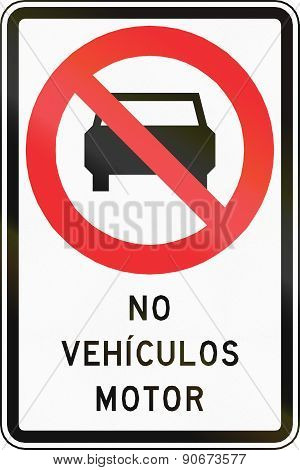 No Motor Vehicles In Chile