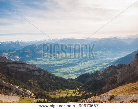 Swiss Alps In Lucerne Region
