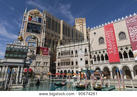 The Venetian and Palazzo hotels in Las Vegas.
