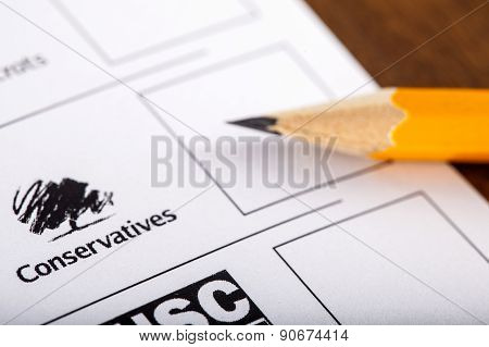 Conservatives On A Uk Ballot Paper