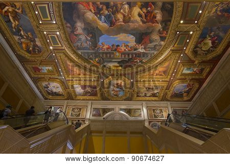 The paintings on the roof of the Venetian hotel in Las Vegas.