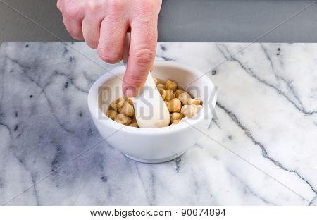 crushing hazelnut