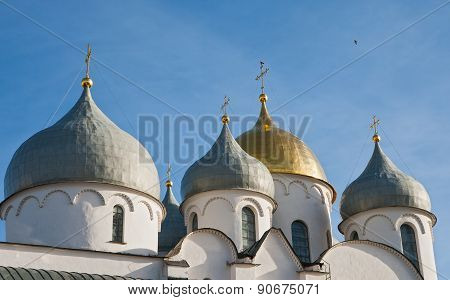 The Domes Of St. Sophia Cathedral