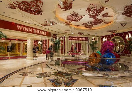 The Wynn and Encore theater inside of the Wynn hotel, Las Vegas.