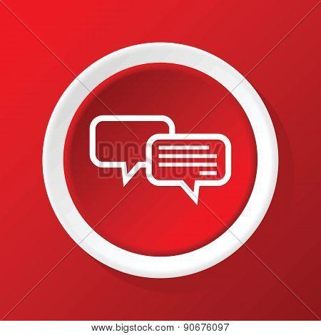 Chatting icon on red