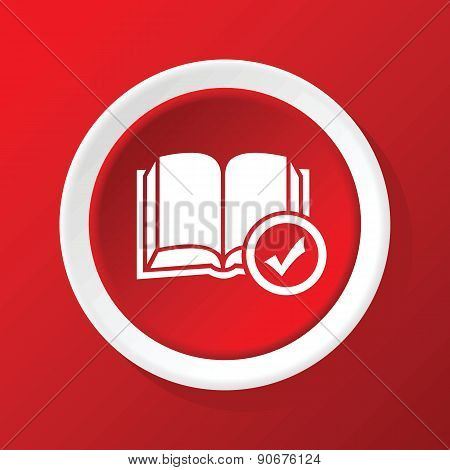 Book choice icon on red