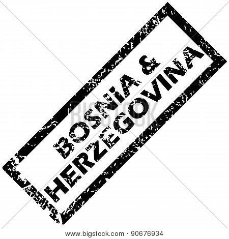 BOSNIA AND HERZEGOVINA rubber stamp
