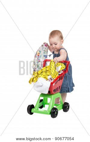 Child With Shopping Trolley