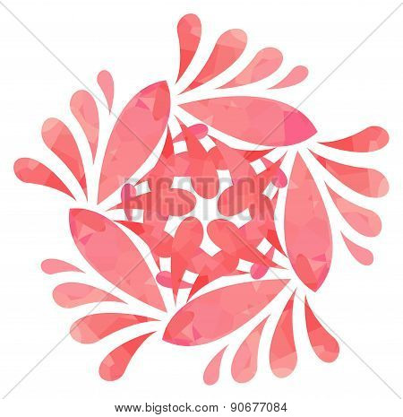 Watercolour pattern - Rose abstract flower