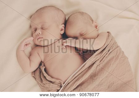 Lovely Sleeping  Twins