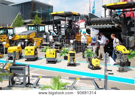 MOSCOW, RUSSIA - JUN 06, 2014: International Exhibition Centre Crocus Expo exhibition Construction Equipment and Technologies