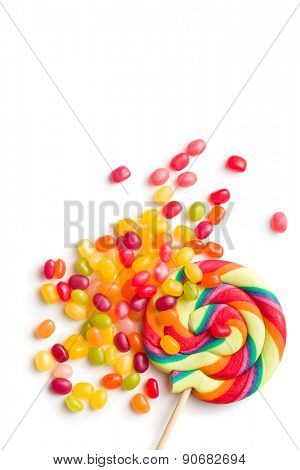 the jelly beans and lollipop