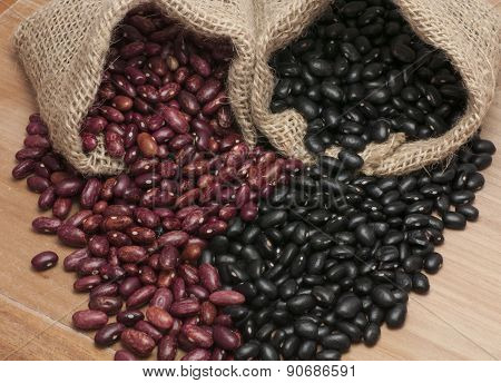 Kidney beans and black beans