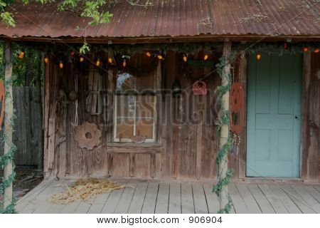 Rustic Halloween Porch