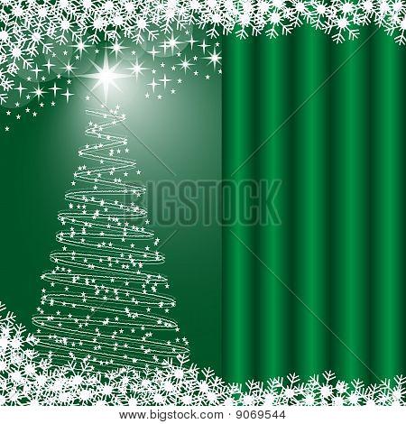 Xmas Tree Green Background
