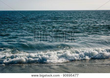 Waves In The Pacific Ocean, In Malibu, California.