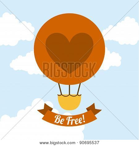 be free over sky background vector illustration