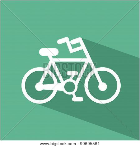 bike design over green background vector illustration