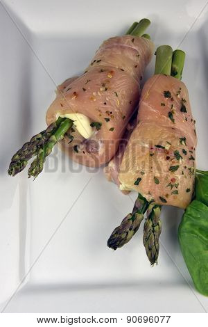 Raw Stuffed Chicken Breast