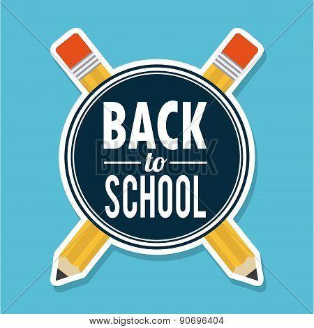 school design over blue  background vector illustration