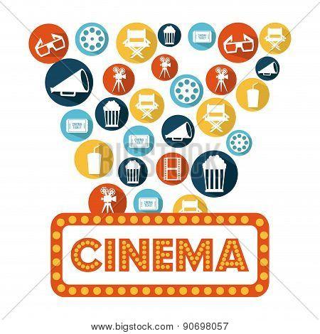 cinema design overwhite white  background vector illustration