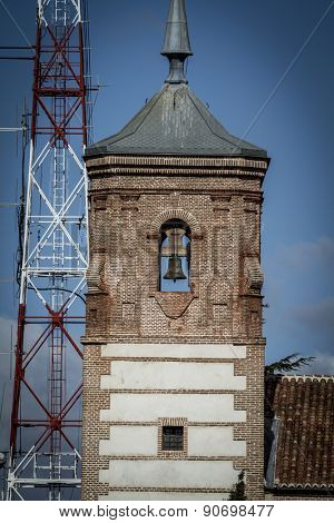 belfry,Cerro de los Angeles is located in the municipality of Getafe, Madrid. It is considered the geographic center of the Iberian Peninsula