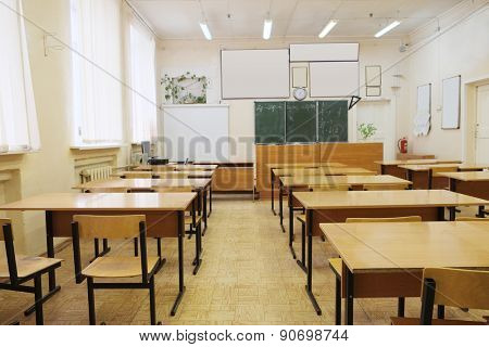 Interior of an empty school class