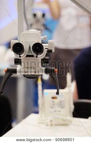 Dentist microscope for a teeth