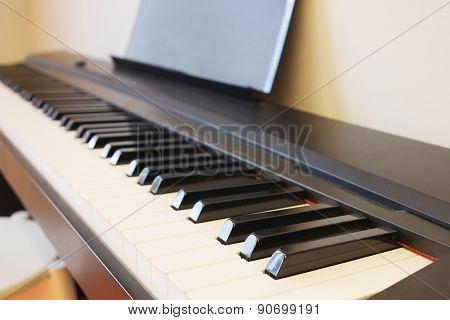 Closeup keyboard piano