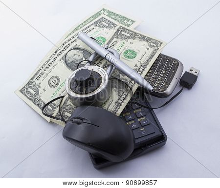 Mouse affair with dollars (Secure online)