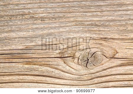 background texture of  grained and knotted cedar wood plank