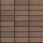 picture of paving  - Brown Paving Slabs Laid out Rectangles Horizontally - JPG
