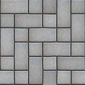 stock photo of paving  - Gray Paving  Slabs Imitates Natural Stone - JPG
