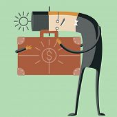 picture of greedy  - Vector illustration of abstract funny characters - JPG