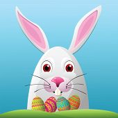 picture of human egg  - Easter Bunny and Eggs  - JPG