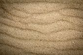 stock photo of blown-up  - close up view beach sand background texture - JPG