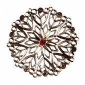 stock photo of brooch  - Vintage jewelry element  - JPG
