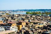 stock photo of bordeaux  - aerial view of the city of Bordeaux in france - JPG