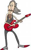 Постер, плакат: Old Rock Man Cartoon Illustration