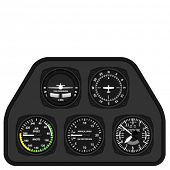 stock photo of glider  - vector aviation airplane glider dashboard  - JPG
