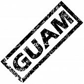 stock photo of guam  - Vector rubber stamp with name GUAM - JPG