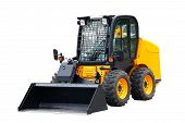 pic of steers  - Skid steer loader isolated over white background - JPG