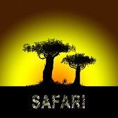 Постер, плакат: Safari In Africa