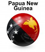 stock photo of papua new guinea  - papua new guinea official state flag - JPG