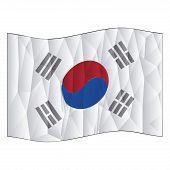 foto of korean  - Isolated south korean flag on a white background - JPG