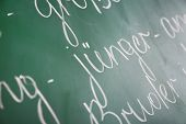picture of grammar  - Grammar sentences on blackboard background - JPG