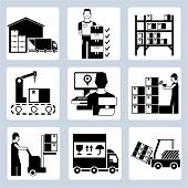 image of bartering  - set of 9 warehouse management icons - JPG