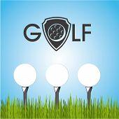 stock photo of miniature golf  - golf design over sky background vector illustration - JPG