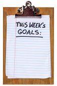 pic of goal setting  - this week goals  - JPG